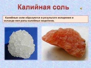 Где используется калийная соль